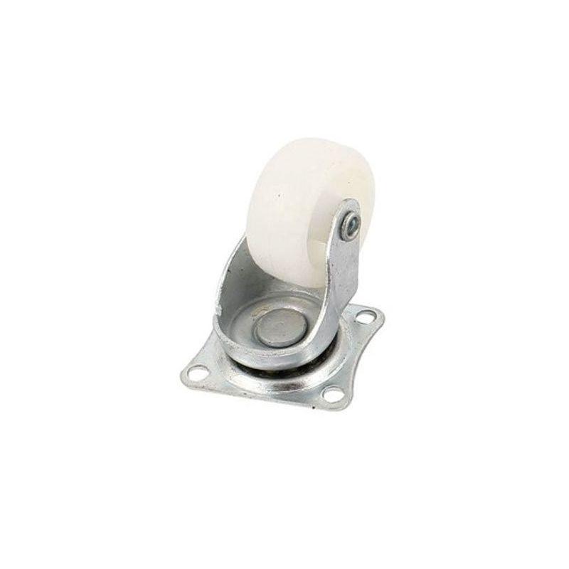 Rueda loca 30mm de Polipropileno y Acero Giratoria Rotación 360°