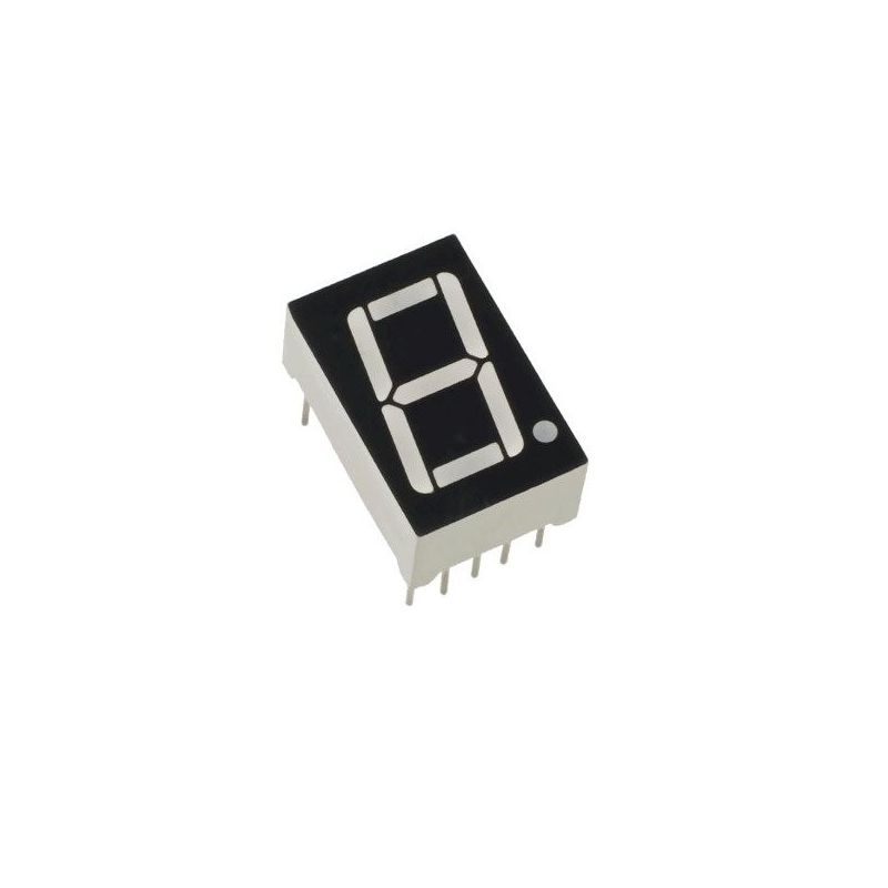 Pantalla LED 1 Dígito de 7 Segmentos Ánodo Común Rojo