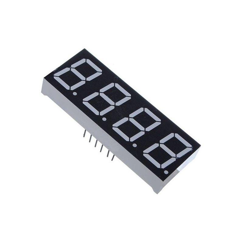 LED Display 4-Digit 7-Segment Red Common Cathode