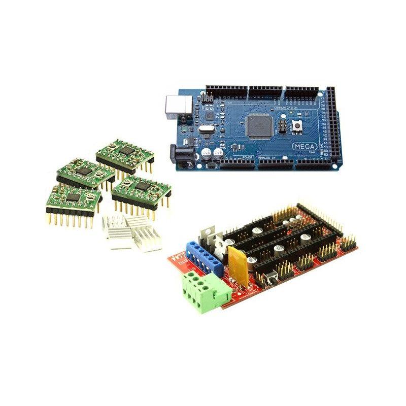 Kit Mega 2560 R3 + Rampas 1.4 RepRap + 4x A4988