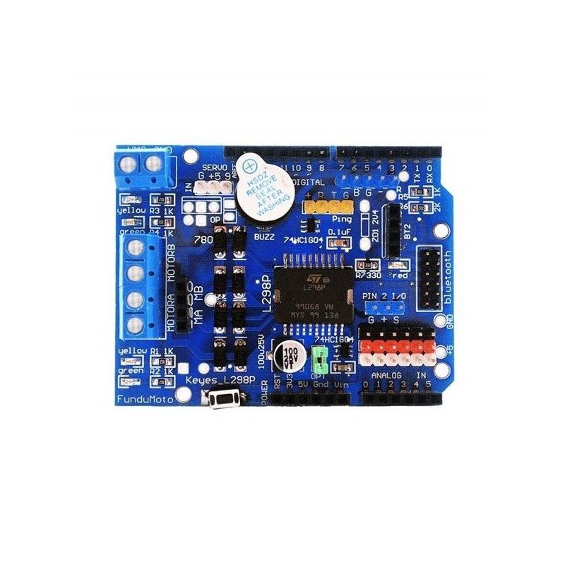 Module L298P DC 2A Motor Management Shield Bluetooth Interface PWM