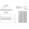 Conectores BLS04 Hembra/Hembra 4 Pines RoHS Fila Simple