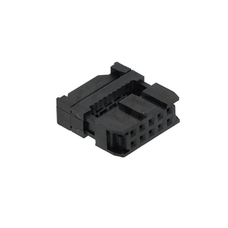 2x IDC 10 female connector for flat cable AWG 1.27