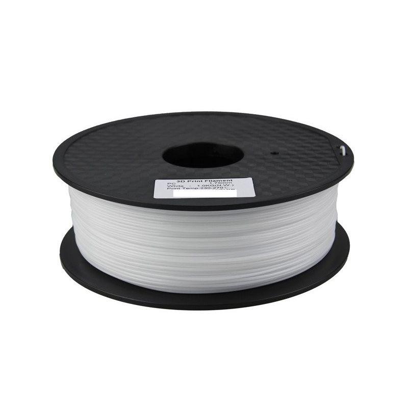 Filament Polycarbonate PC White 1.75mm 1kg