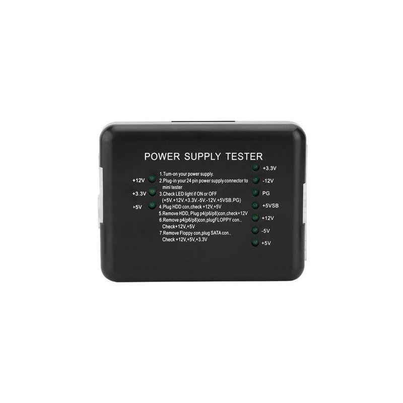Testador 20/24 Pino PC LED medidor de alimentação ATSU ATX SATA HDD