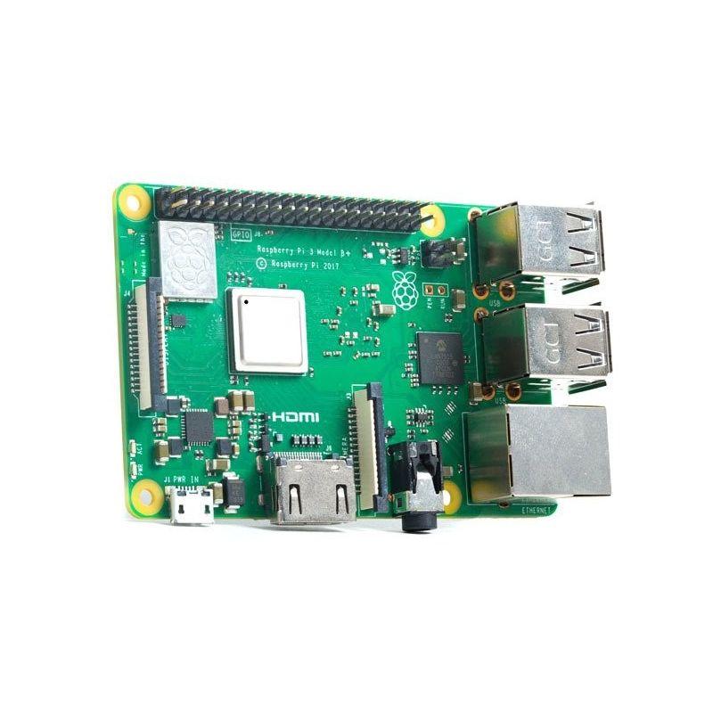 Raspberry Pi 3 Modelo B + 1.4GHz Procesador de cuatro núcleos de 64 bits LAN 4.2/BLE