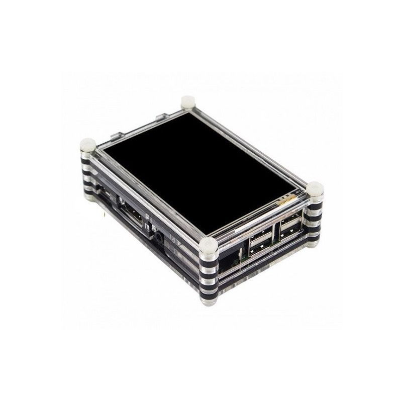3.5 pulgadas LCD TFT Caja Acrílica para Raspberry Pi
