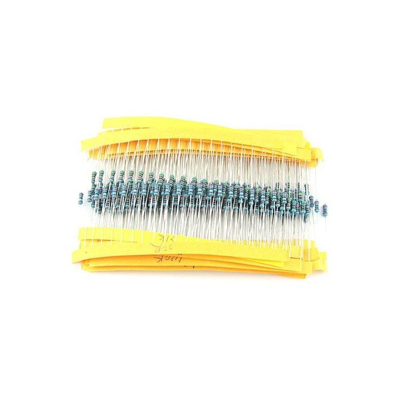 Kit de resistencias 100R, 220R, 1k, 2,2k, 4,7k, 10k, 100k Ohm 5% 0,25W 1/4W