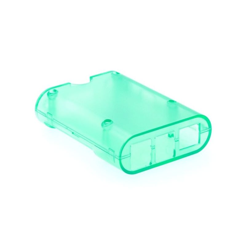 Transparent green housing for Raspberry Pi 2, Pi3 Model B, B+