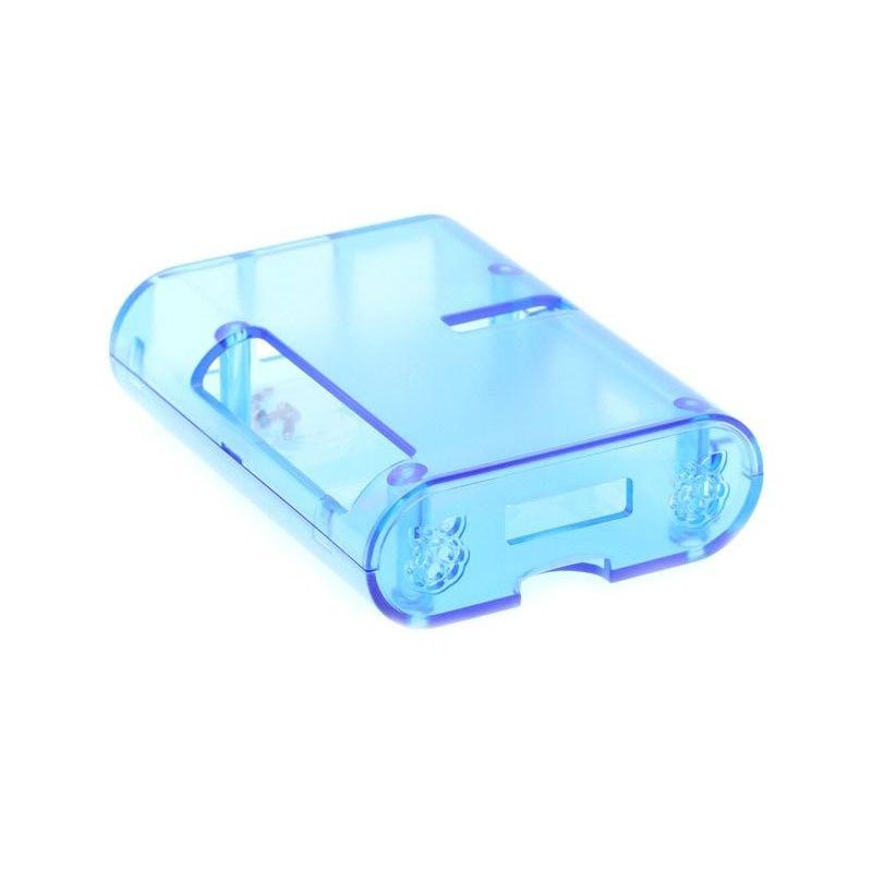 Carcasa transparente azul para Raspberry Pi 2, Pi3 Model B, B+