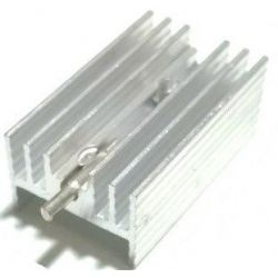 Transistor heat sink with...