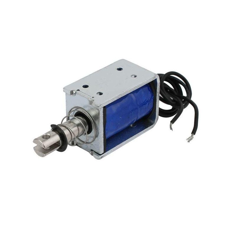 Pequeño Accionador de Empuje, Solenoide - 24VDC recorrido de 10mm