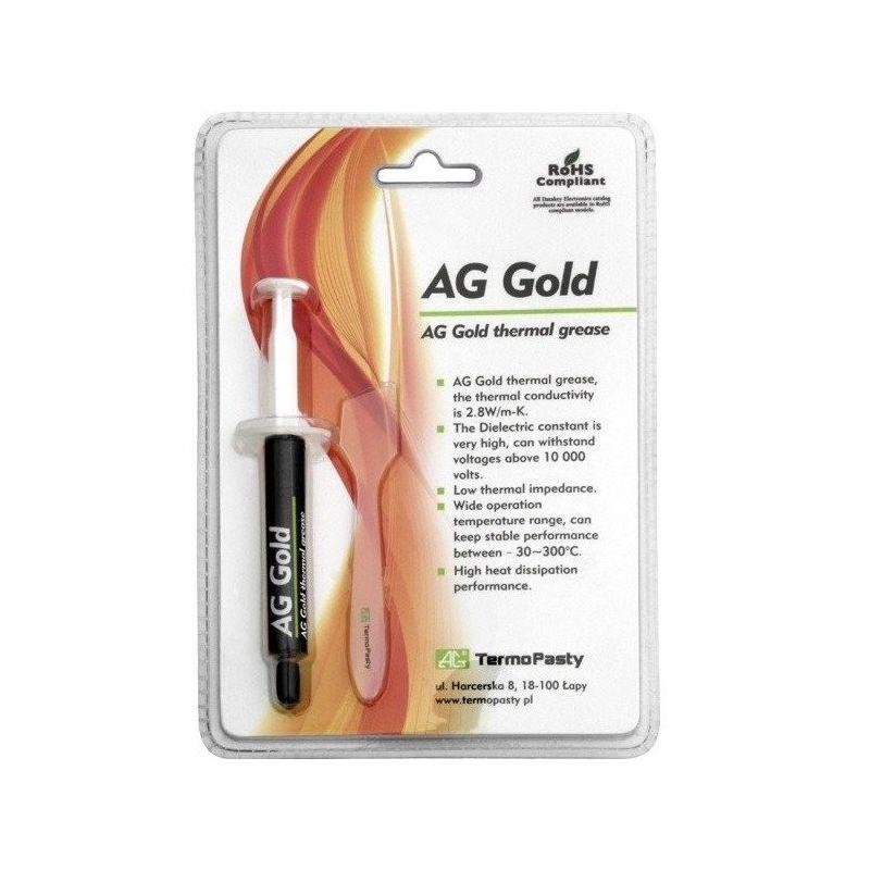 Grasa térmica AG Gold jeringa 3g