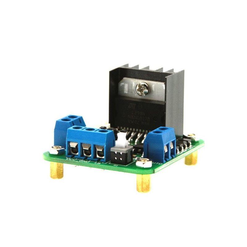 Controlador L298N Control de Motores DC PAP (Paso a Paso) Doble Puente H con interruptor