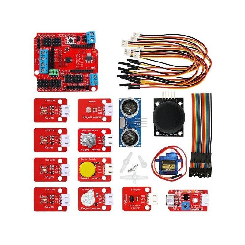 Kit Funduino I/O Expansion starter kit para Arduino UNO R3