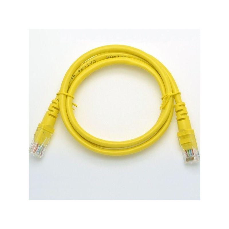 Cable Ethernet Patchcord UTP5e 1m Raspberry Pi Amarilo