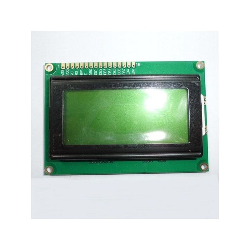Pantalla LCD 16x4 1604  Retroiluminado Fondo Verde