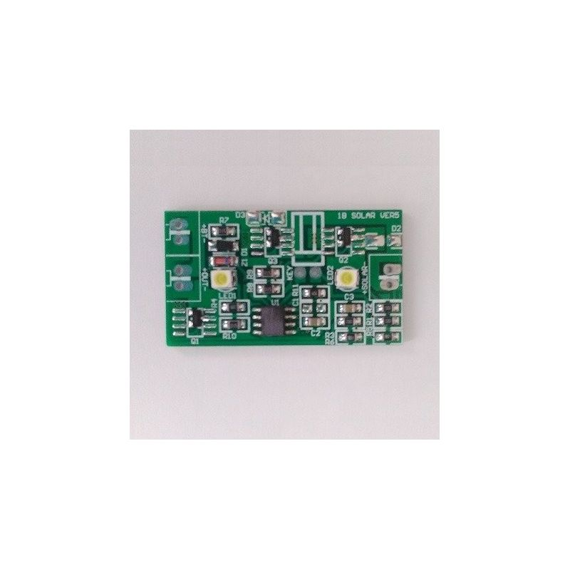Solar panel controller 3.7V - 2A Lithium battery charge, discharge with light control