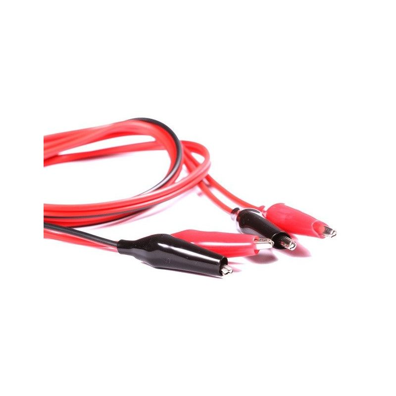 2x Cable Alligator Clip Black and Red Multimeter