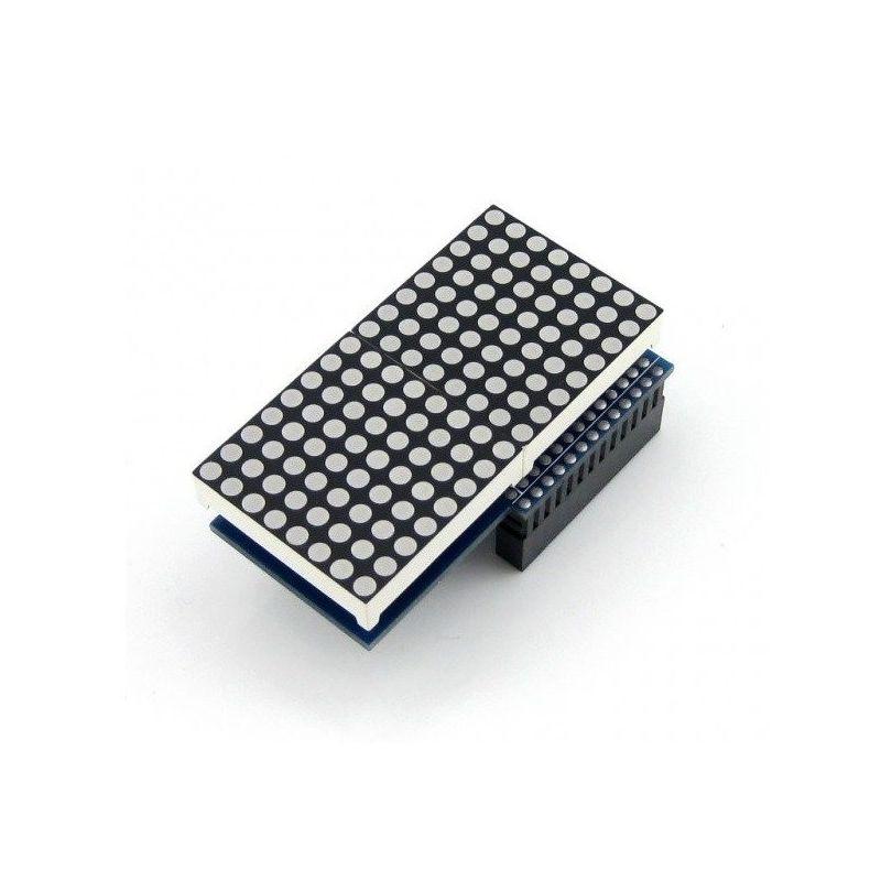 Matriz LED 16x8 rojo MAX7219 Waveshare para Raspberry Pi