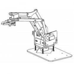 Acrylic robot 4 DOF Arm...