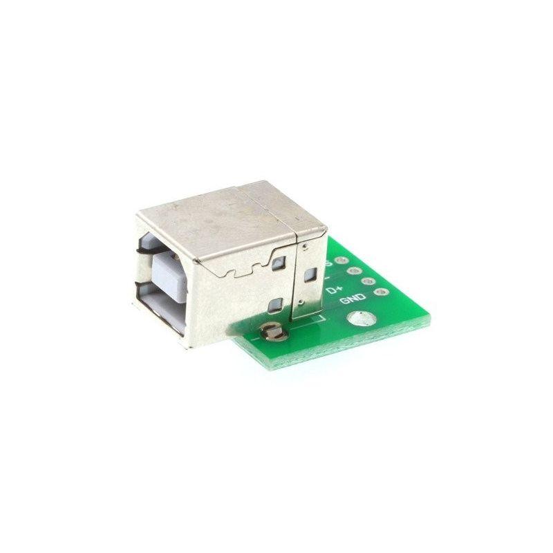 Adaptador USB Tipo B Conector feminino 2.0 com placa PCB