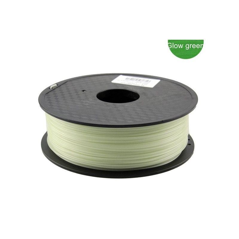 PLA Filamento 3mm 1kg Impresion Verde Luminiscente