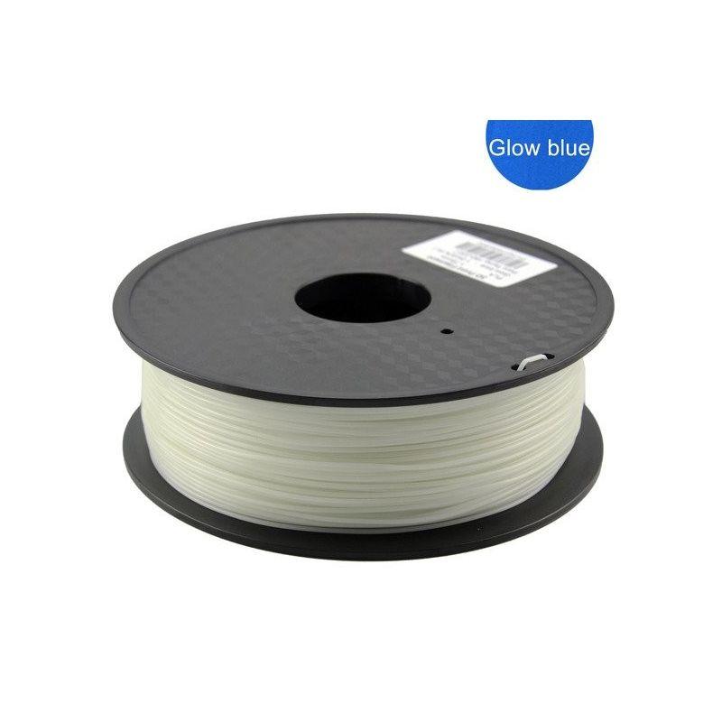 PLA Filamento 3mm 1kg Impresion Azul Luminiscente