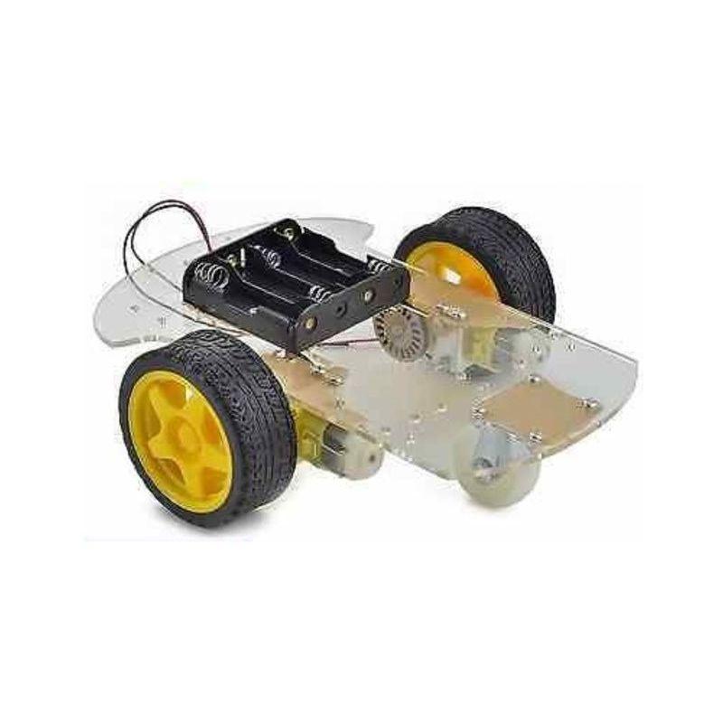 Kit de robótica Mini Robot Coche 2WD Obstáculos DIY