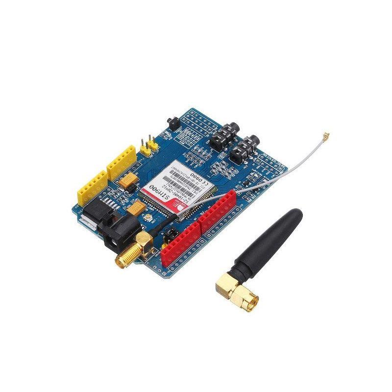 SIM900 Módulo GSM GPRS Cuatro Bandas con Antena shield para Arduino