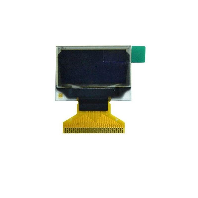 "Pantalla OLED 0.96"" 128x64 Blanco con ZIF conector FPC"