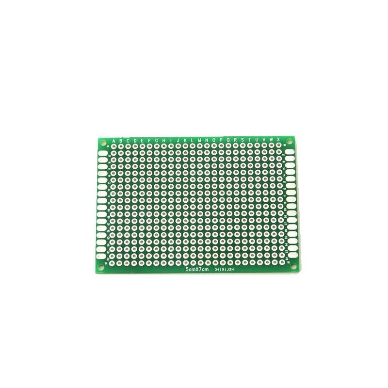 2 Double Sided Prototype PCB Board 5x7cm
