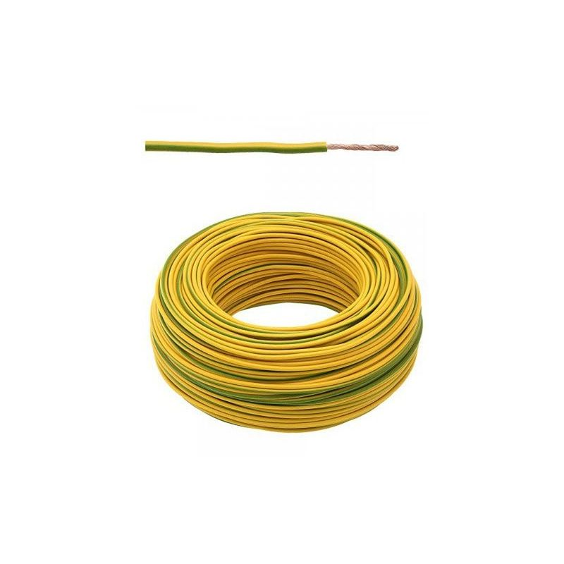 Cable 1x1,5 Flexible Unipolar 1.5mm² verde-amarillo 1m