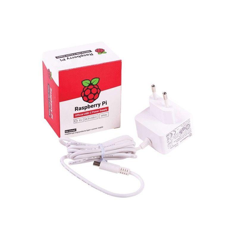 Raspberry Fuente de alimentación para Raspberry Pi 4, USB-C  5V 3A