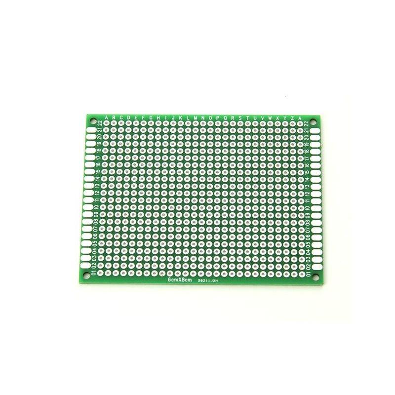 2 Double Side Prototype PCB Board 6x8cm