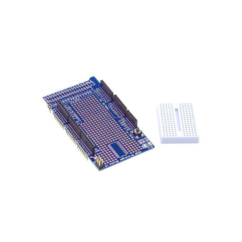 Protoboard Shield con Mini Protoboard 170 Puntos para Arduino Mega2560 V3.0
