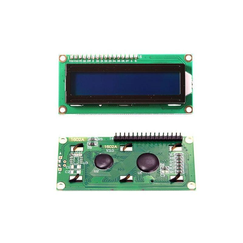 Pantalla LCD 16x2 1602 Retroiluminado Fondo Azul pines soldados
