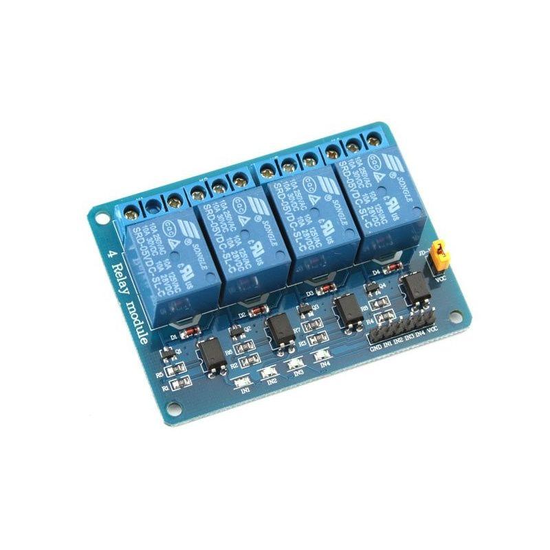 Módulo de relé de 5V 10A 4 Canais