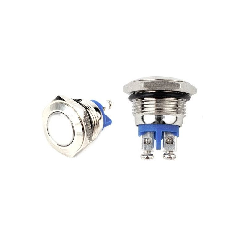 Momentary Pushbutton Switch N/A NO 2A 36V 16mm Stainless Steel