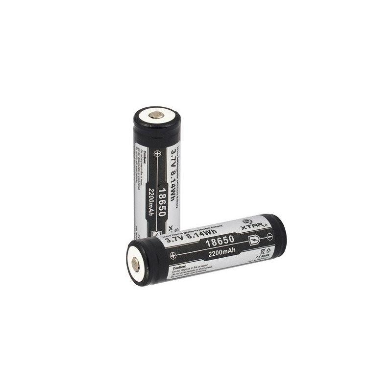 Bateria recarregável XTAR 18650 2200mAh Li-ion