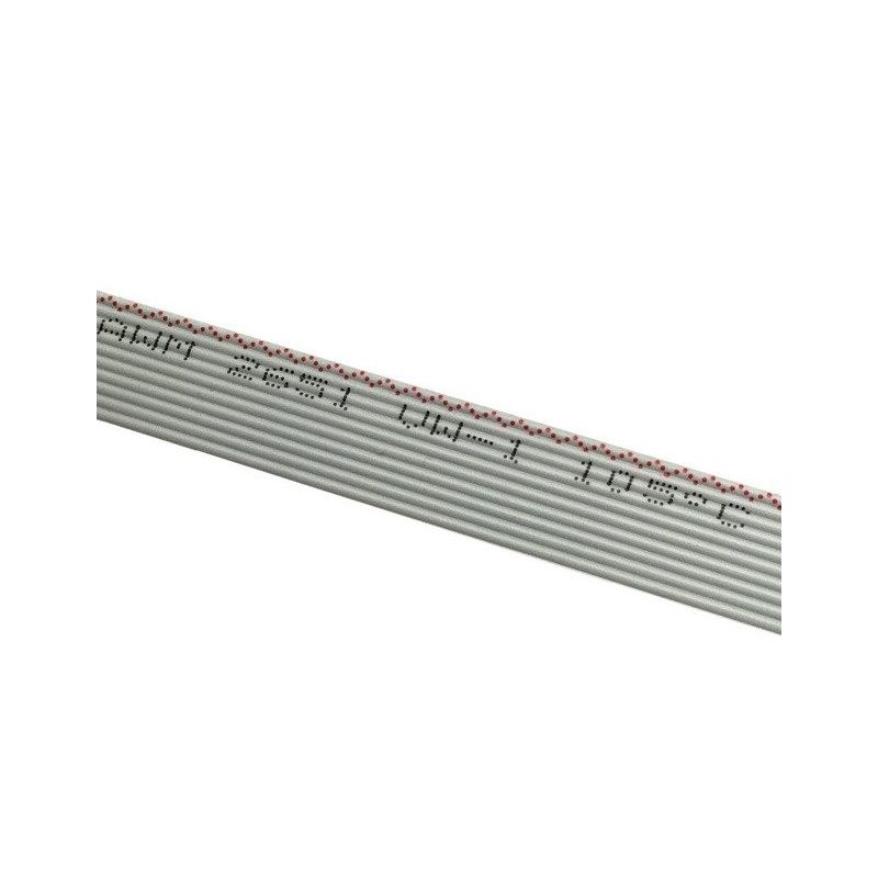 Cable Plano 1m AWG28 1.27 Gris 10 Pines