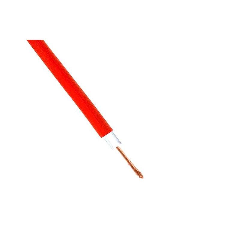 Cabo de silicone 1x0.5mm2 10A 1000V Resistente 180oC Vermelho Flexível
