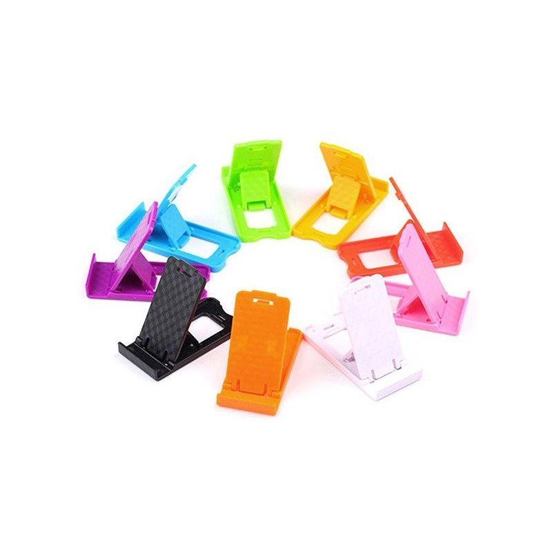 Soporte Plegable de Plástico para Móviles Tablets eBooks Smartphone Fucsia