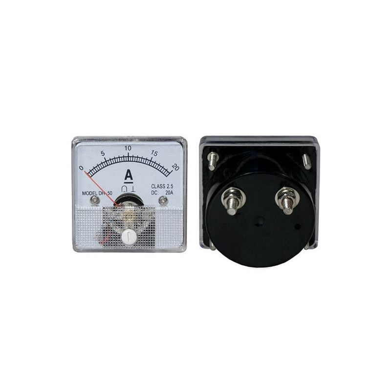 DC 20A Analog Panel Ammeter 0 a 20A