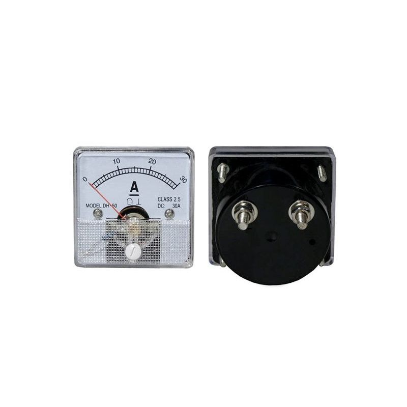 DC 30A Analog Panel Ammeter 0-30A