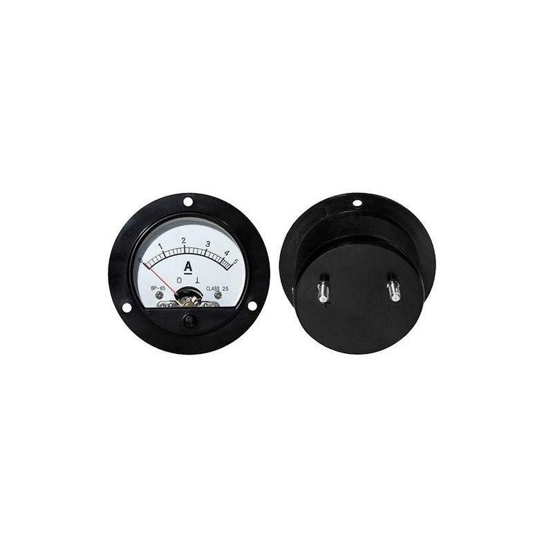 Amperiômetro analógico redondo 5Acc