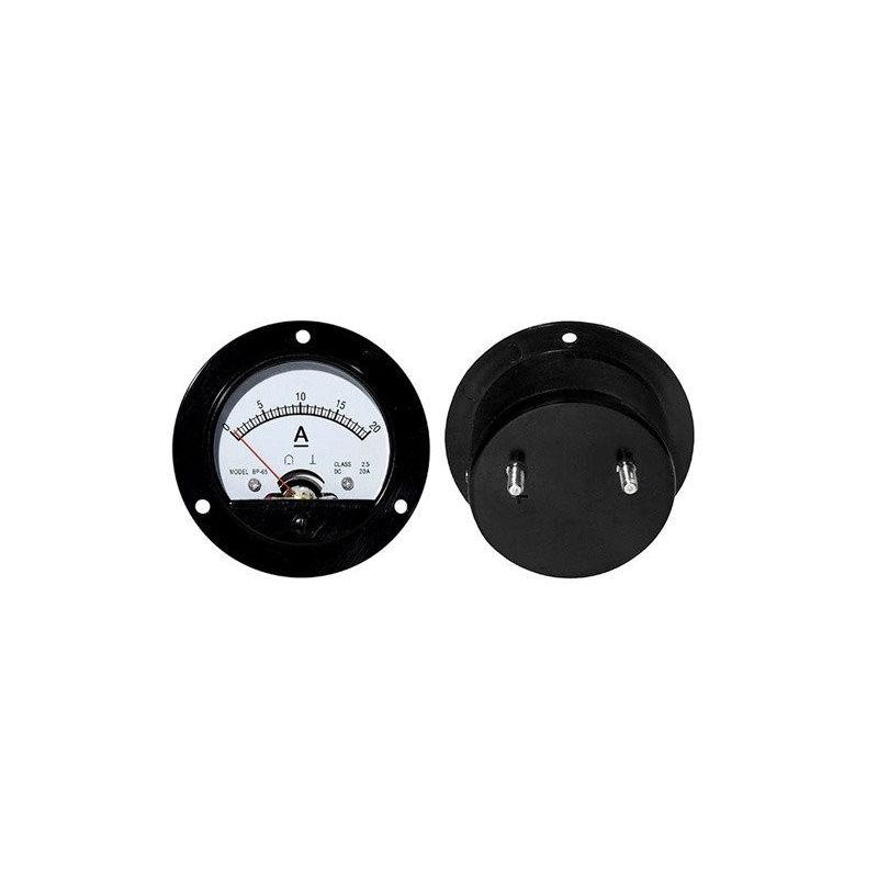 Amperiômetro analógico redondo de 20Acc