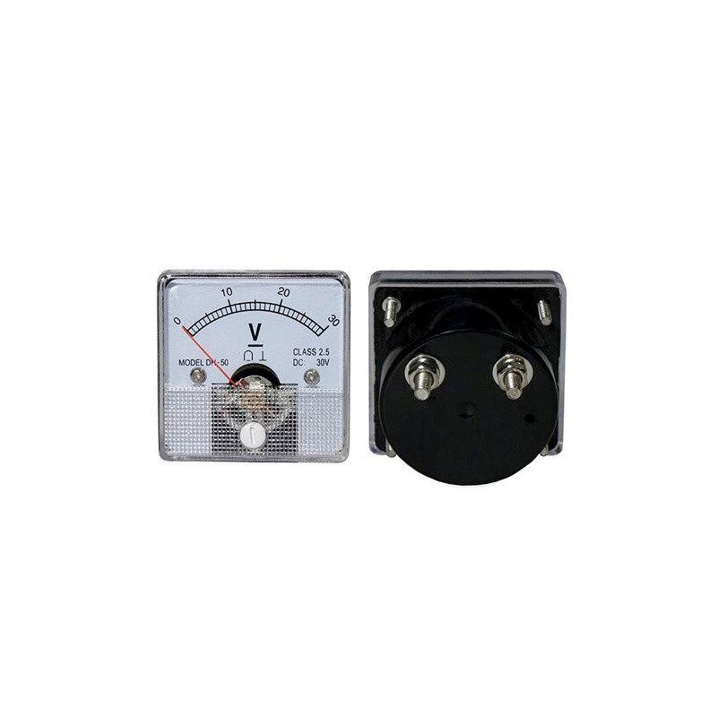 DC 30V Analog Panel Voltmeter 0 to 30V