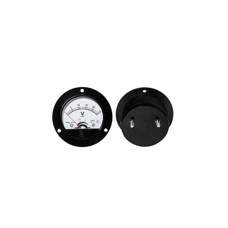 DC 25V Analog Panel Voltmeter 0 to 25V Round