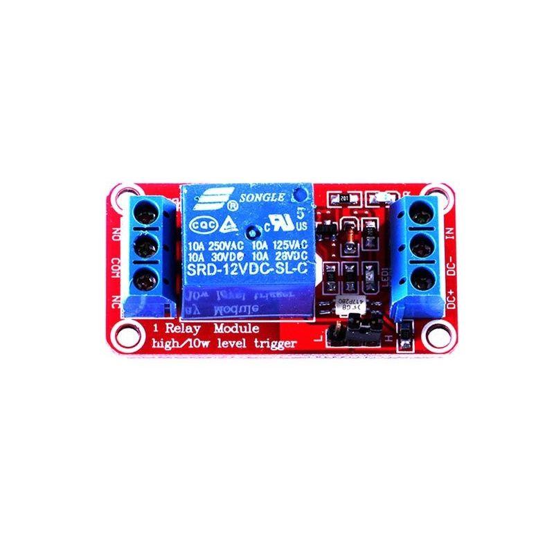 Módulo de relé de tiro baixo/alto de 12V 10A para Arduino